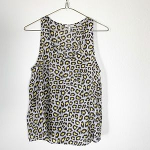 JOIE silk animal print tank small